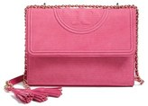 Tory Burch Fleming Snake Embossed Convertible Shoulder Bag - Pink