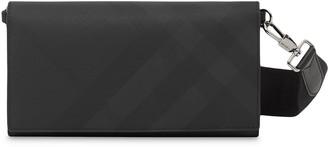 Burberry Check Print Logo Strap Wallet