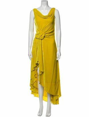 Monse Cowl Neck Long Dress w/ Tags Yellow