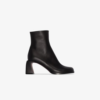 MANU Atelier Black Chae 65 leather ankle boots