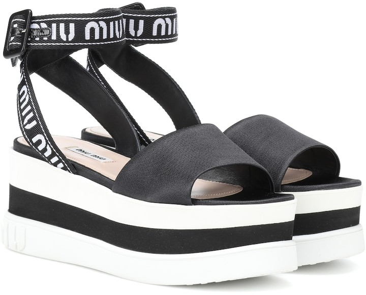 98ca3fe542e9 Miu Miu Platform Shoes - ShopStyle