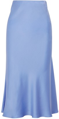 Bec & Bridge Classic periwinkle silk midi skirt
