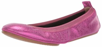 Yosi Samra Women's Samara-M Ballet Flat Fuchsia Speckled Metallic Leather 5 M US