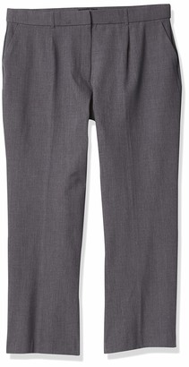 Napa Valley Women's Plus Size Slash Pocket Straight Leg Trouser-Short