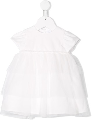 Il Gufo Tulle Skirt Flared Dress