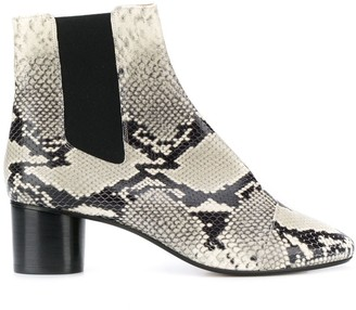 Isabel Marant heeled snake-effect Chelsea boots
