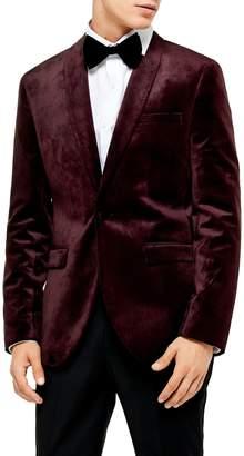 Topman Velvet Skinny Suit Jacket