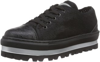 Fornarina Womens SHERA Unlined Low House Shoes Black Size: 7