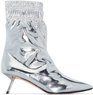 Alchimia di Ballin Volcano metallic ankle boots