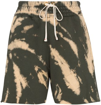 Les Tien tie-dye drawstring shorts