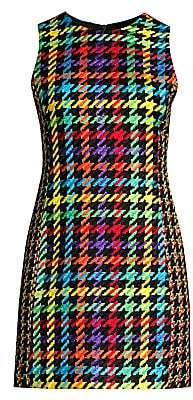 Alice + Olivia Women's Coley Multicolor Houndstooth Dress