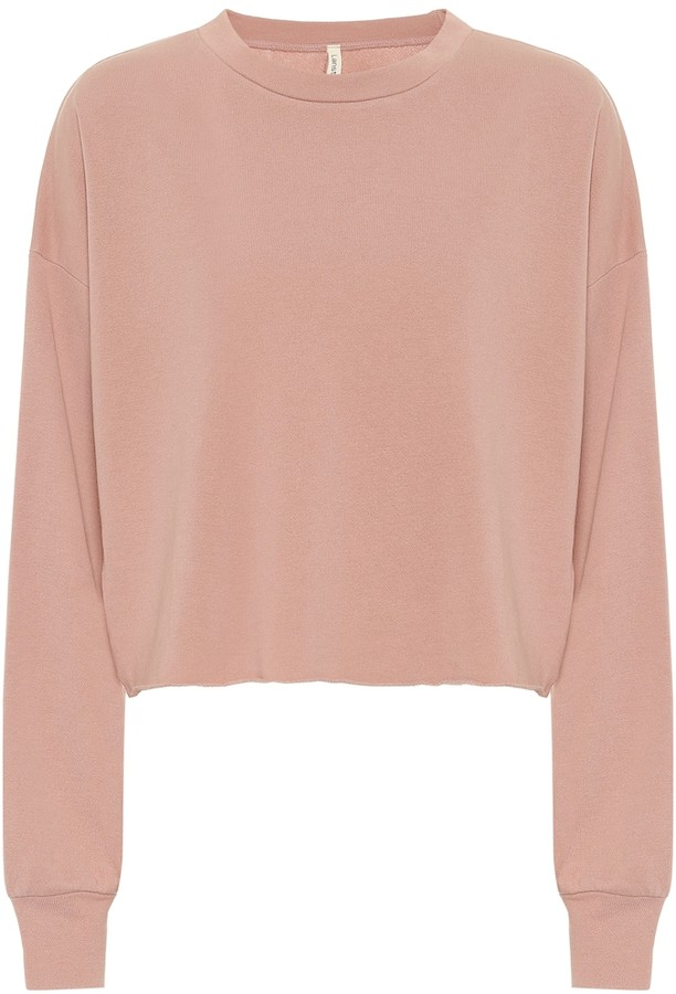 Lanston Cropped cotton-blend sweater