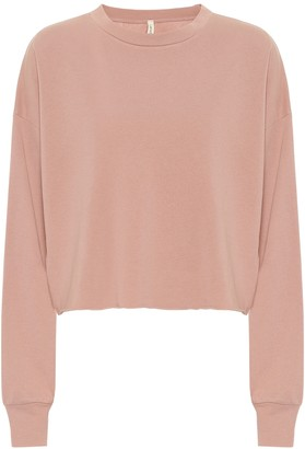 Lanston Sport Cropped cotton-blend sweater