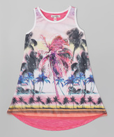 KensieGirl Pink Tropical Racerback Dress - Girls