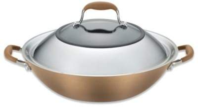 Anolon Advanced Bronze Hard Anodized Nonstick 14-Inch Covered Wok