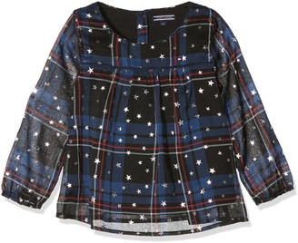 Tommy Hilfiger Girl's H Star Check Top L/s Blouse