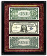 NEW American Coin Treasures Washington Framed Coin and Stamp Collection