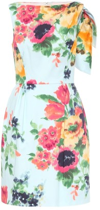 Carolina Herrera Floral cotton-blend minidress