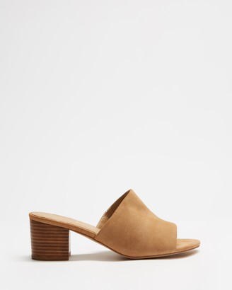 Spurr Women's Brown Heeled Sandals - Lila Mules (Wide Fit) - Size 5 at The Iconic