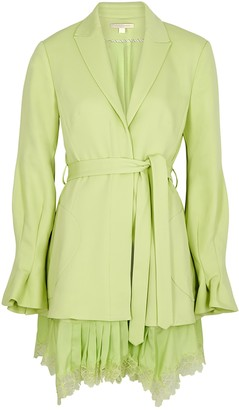 Jonathan Simkhai Victoria light green blazer dress