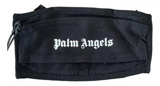 Palm Angels Black Cotton Scarves & pocket squares