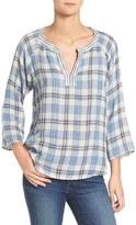Velvet by Graham & Spencer Women's Plaid Cotton Shirt
