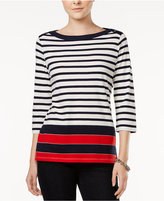 Tommy Hilfiger Esme Metallic-Detail Striped Top, Only at Macy's