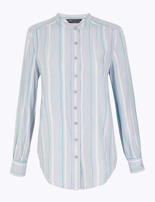 Marks and Spencer Striped Longline Shirt