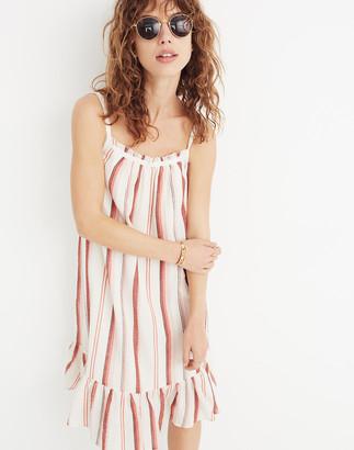 Madewell Striped Trapeze Tank Dress