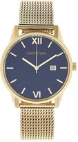 UNKNOWN The Dandy Mesh Watch- Navy/Gold