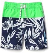 Gap Tropic print-block swim trunks