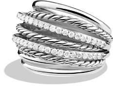 David Yurman Crossover Dome Ring with Diamonds