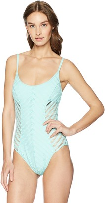 Kenneth Cole New York Women's Scoop Neck One Piece Swimsuit