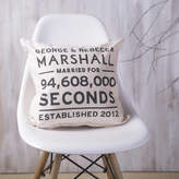 Oakdene Designs Personalised Couples Anniversary Cushion