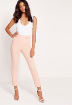 Missguided Eyelet Wrap Pants Pink