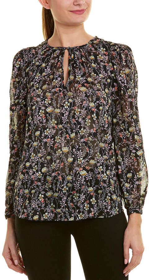 Bloom Print Silk-Blend Top