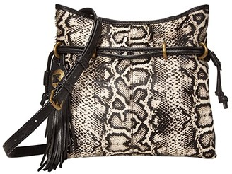 Frye Sacha Haircalf Mini Crossbody (Black/White Multi) Handbags