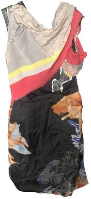 Michael Van Der Ham Multicolour Silk Dress for Women