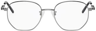 Alexander McQueen Silver Round Glasses