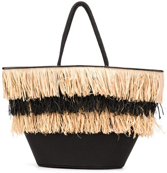 Dorothee Schumacher Straw Fringed Tote Bag