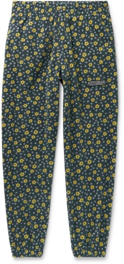 Martine Rose Slim-Fit Tapered Printed Fleece Track Pants