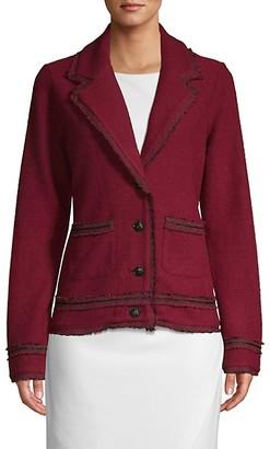 Karl Lagerfeld Paris Tweed-Trim Jacket
