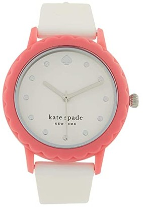 Kate Spade Morningside Three Hand Silicone Watch (White) Watches