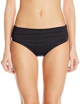 Kenneth Cole New York Women's Strappy Hour Shirred Bikini Bottom