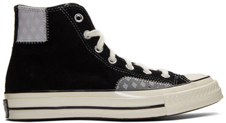 Converse Black and Grey Suede Chuck High Sneakers