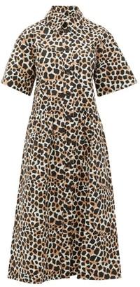 Sea Clara Animal-print Cotton-poplin Shirtdress - Womens - Leopard