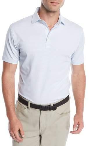 Peter Millar Men's Halford Stripe Jersey Polo Shirt