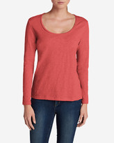 Eddie Bauer Women's Essential Slub Long-Sleeve Scoop-Neck T-Shirt