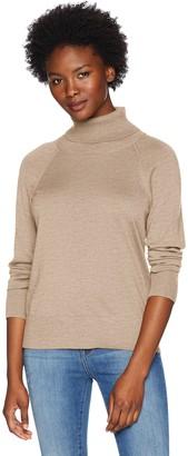 Pendleton Women's Petite Merino Ribneck Turtleneck Sweater