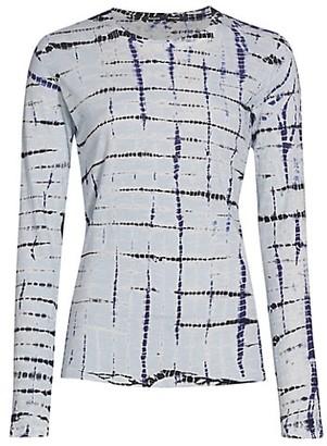 Proenza Schouler Tie-Dye Tissue Jersey Long-Sleeve Shirt